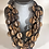 Thumbnail: Textured beaded necklace