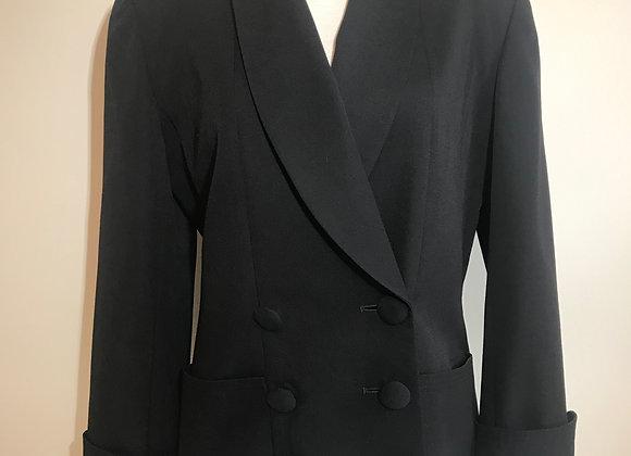 Harve Bernard black wool tuxedo jacket