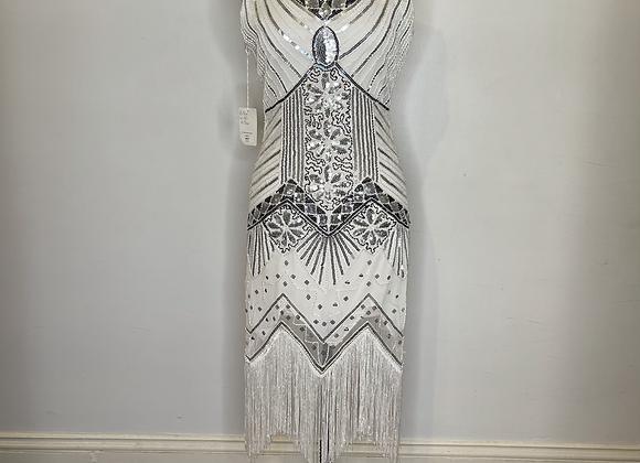 1920s flapper fringe dress