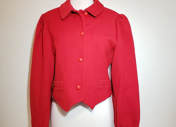 Designer sportwear red wool jacket
