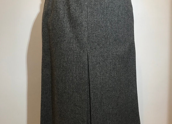 YSL Grey Wool Skirt