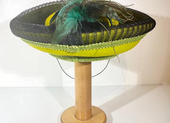 Milan Yellow Wool Hat