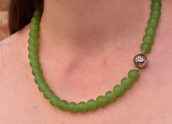 Seaglass bead Necklace