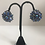 Thumbnail: Large crystal blue clip on earrings