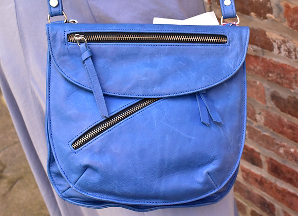 Carol Miller blue cross body purse