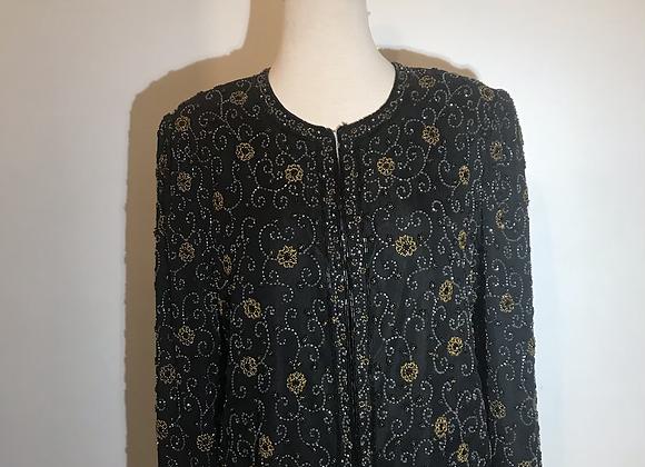 Scala black beaded cardigan