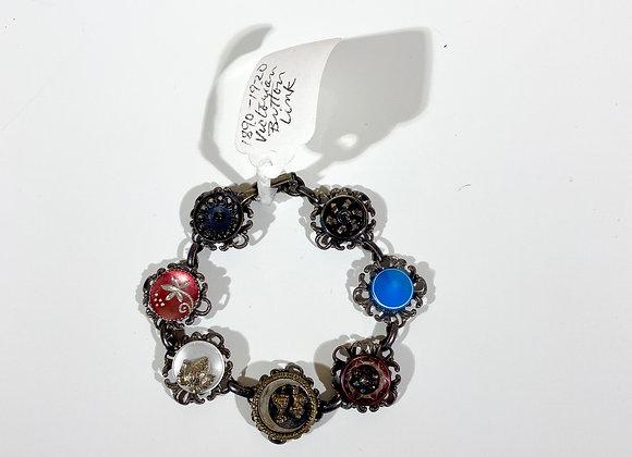 Victorian Era Button Link Bracelets (Various Styles)