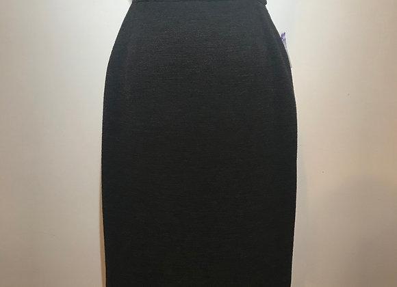 YSL Grey Wool Slim Skirt