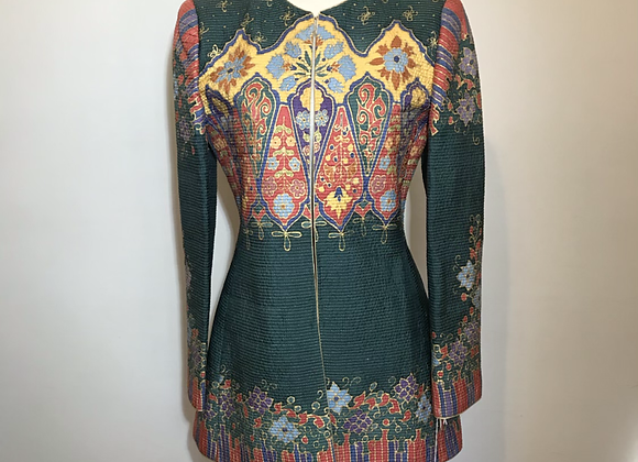 Mary McFadden gold metallic tunic