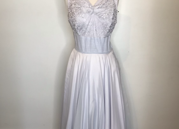 1950s violet lace dress