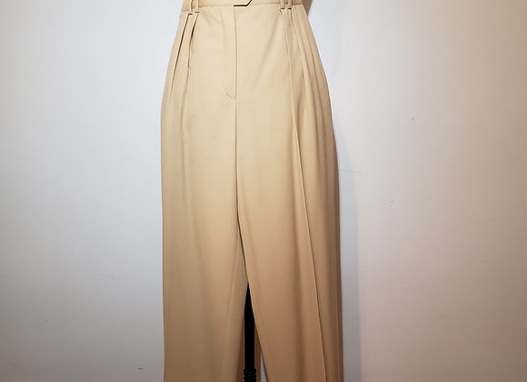 Designer tan wool pants