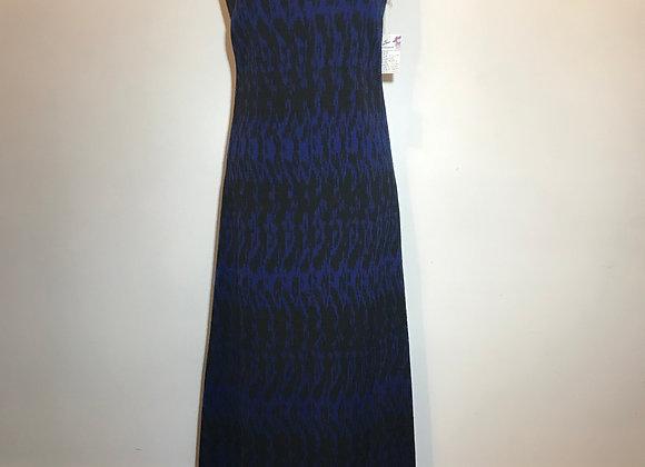 Navy & Black Woven Fringe Dress