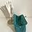 Thumbnail: Designer turquoise suede bag