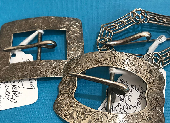 Assorted Sterling Silver Buckle Pins