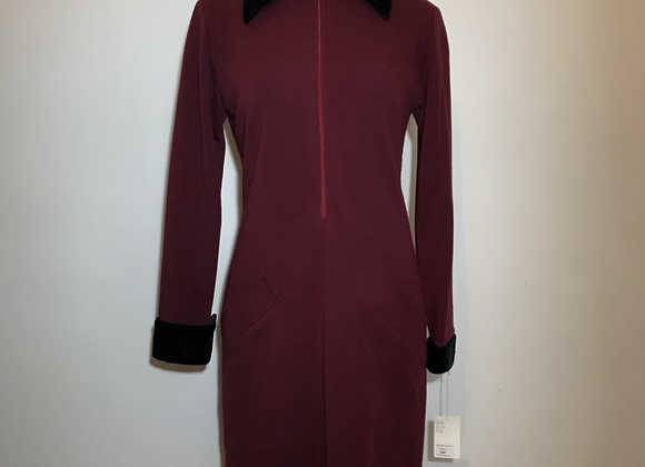 Designer red knit dress