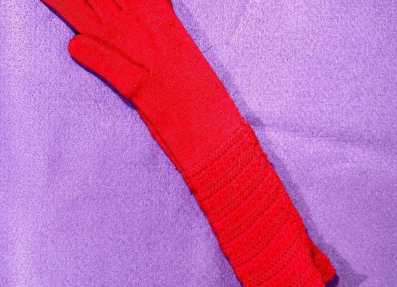 Harrods London Red Knit Gloves