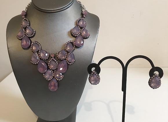 3pc purple crystal set