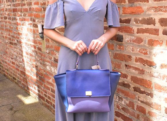 Carol Miller blue leather purse