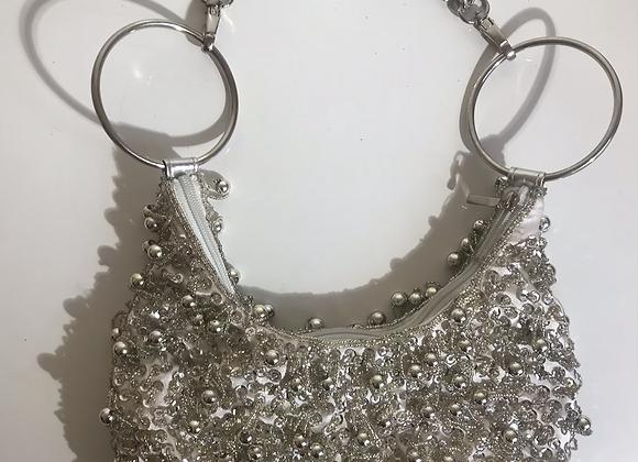 Aldo silver sequin bag