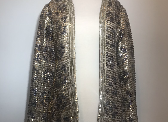 Saks 5th Gold & Silver Sequin Jacket