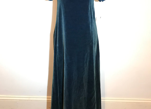 Teal Velvet long dress