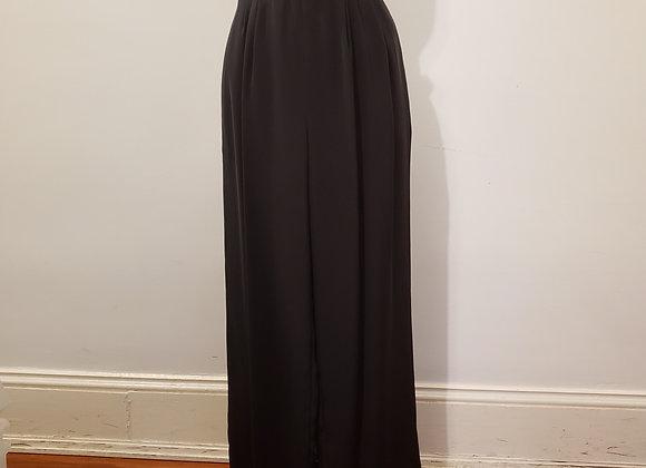 Oscar de La Renta black silk pant