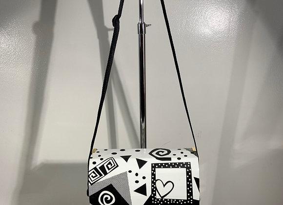 Black & White geometric cardboard Purse