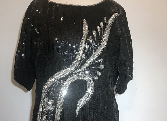 FLB black sequin top
