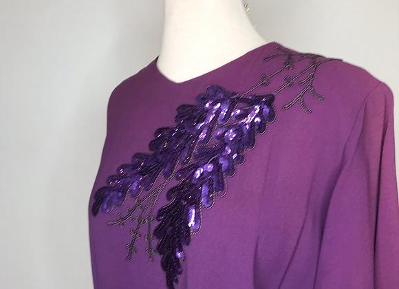 Purple crepe dress
