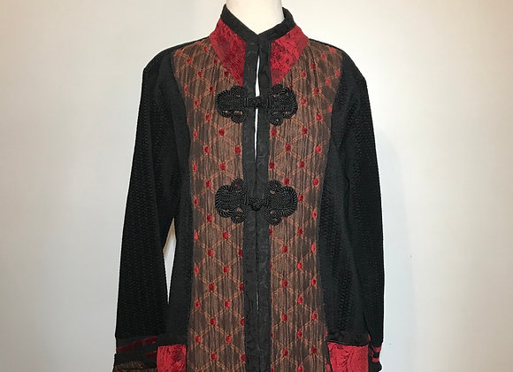 Xiao black & red woven jacket