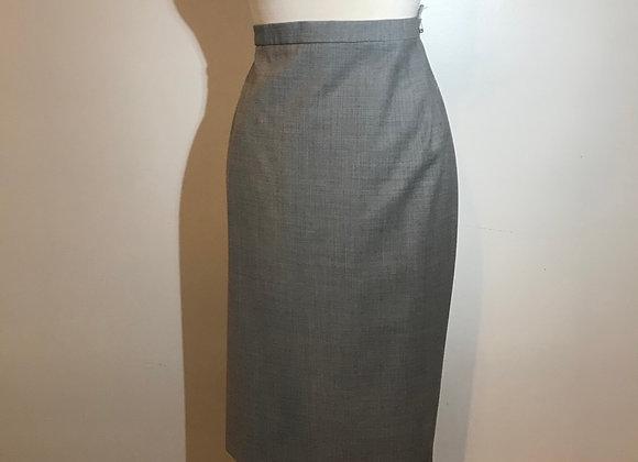 Designer Grey Wool Skirt