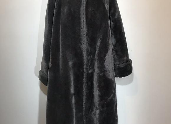 Borgana blue/grey faux fur coat