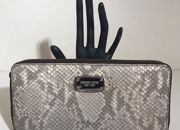 MK faux snake wallet