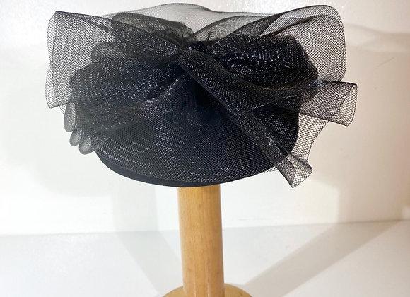 Black wool netting hat