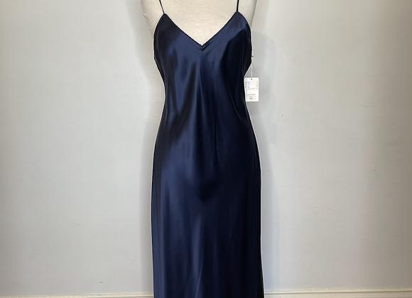Navy silk negligee