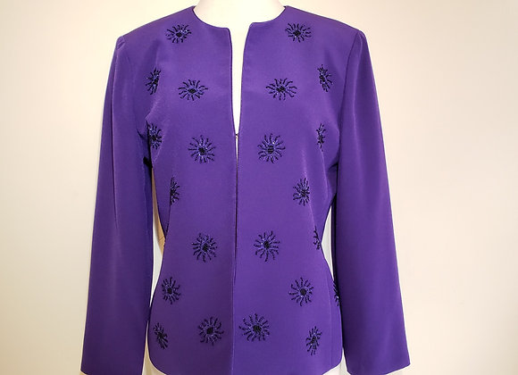 Albert Nipon purple blazer