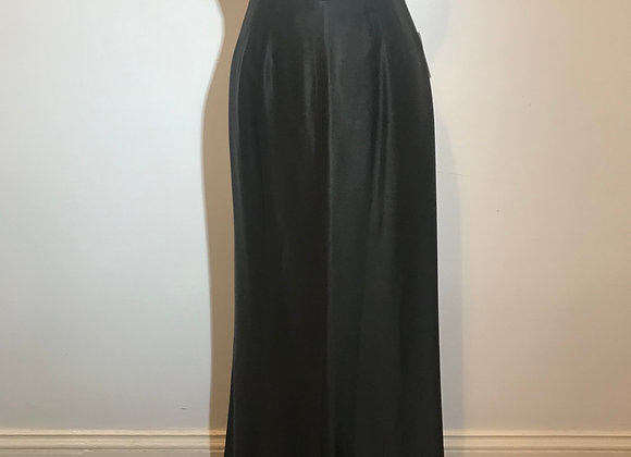 Designer black long skirt