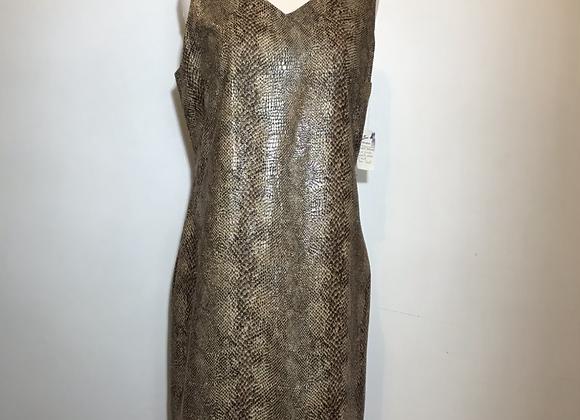Harve Bernard faux snake sheath dress