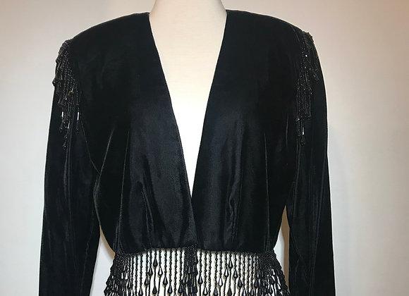 Alex Evening Black Velvet Jacket