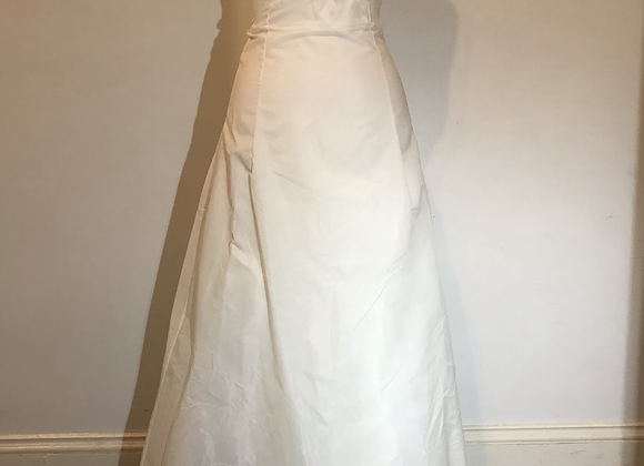Long white crinoline