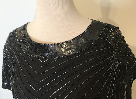 Scala black beaded dress
