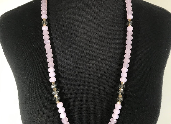Soft pink Bead necklace