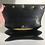 Thumbnail: Koret black leather box handbag gold tone detail