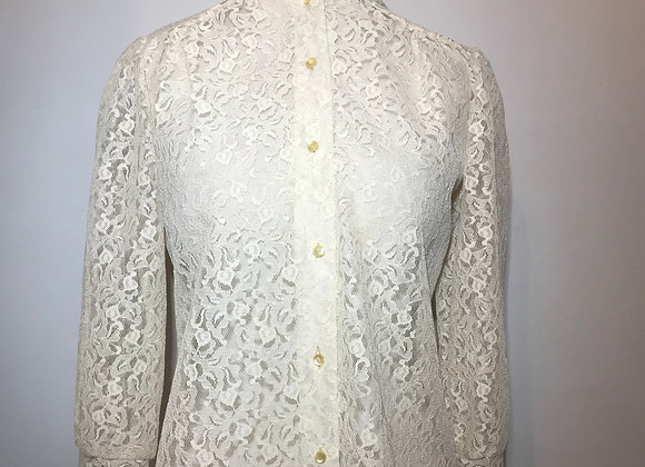 Victorian Style Creme Lace Top