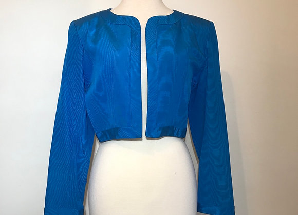 YSL turquoise gross grain jacket
