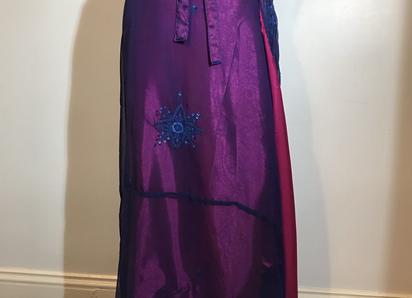 Wedding sari magenta wrap skirt