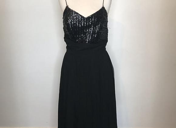 1950s black sequin dress