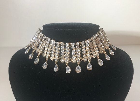 Crystal Dangle Choker