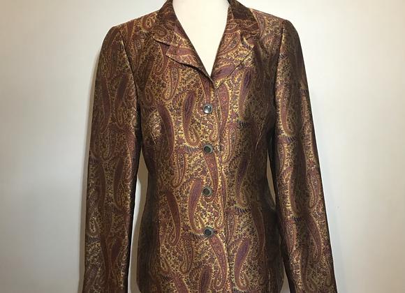 Nina MCLemore burgundy jacket