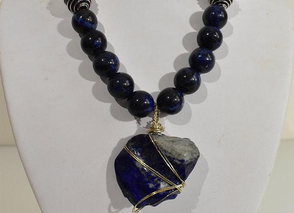 Lapis Lazuli Nugget Choker